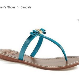 USED tory burch leighanne sandals